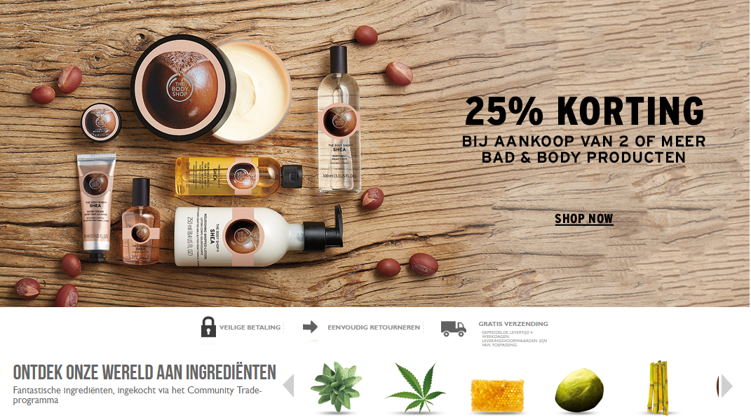 Kortingscode: The Body Shop